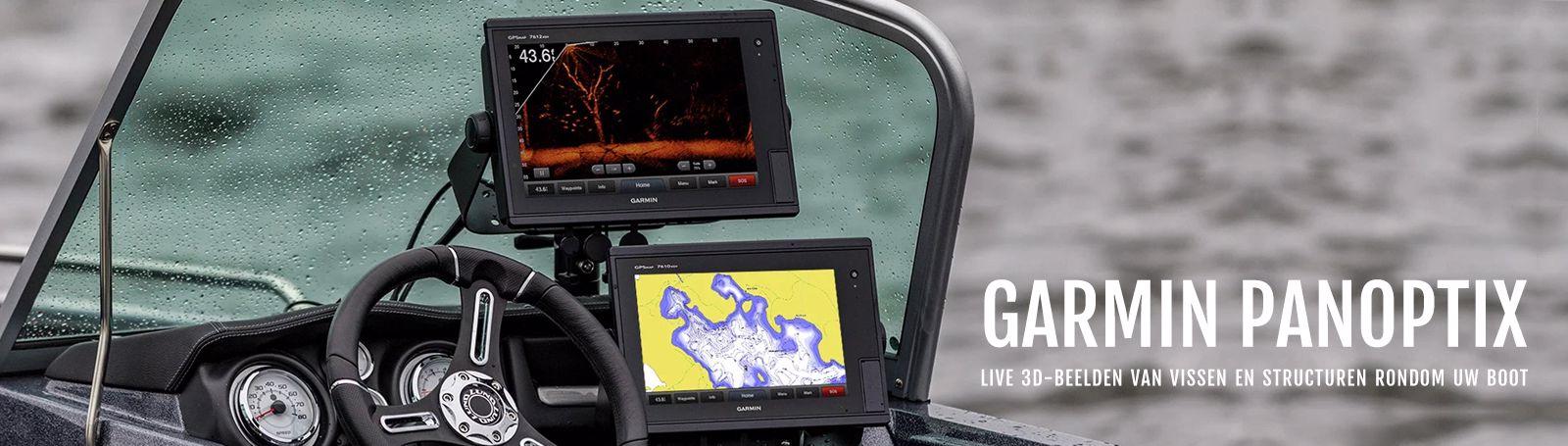 Bekijk live 3D-beelden van vissen en structuren rondom uw boot met Garmin Panoptix